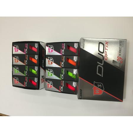 Wilson Duo Soft Optix Golf Balls, Assorted Colors, 24 Pack (Air Optix Colors)