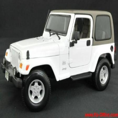 [] JEEP Wrangler Sahara (white) 1/18 model car (minicar) Jeep goods (japan import)