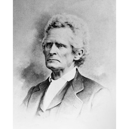 Stretched Canvas Art   Stephen Trigg Logan  N 1800 1880   American Lawyer And Politician  Law Partner Of Abraham Lincoln  Photograph  Mid 19Th Century    Large 24 X 36 Inch Wall Art Decor Size