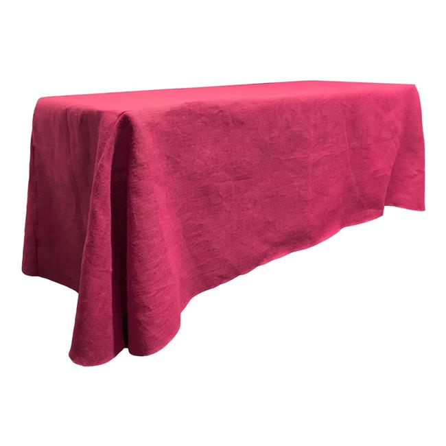 TCBurlap90x156-Fuschia Rectangular Dyed Natural Burlap Tablecloth, Fuchsia - 90 x 156 in. - image 1 of 1