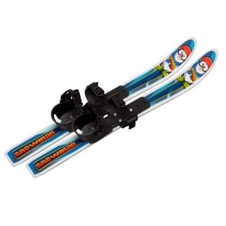 Whitewoods Snowman 70cm Cross Country Backyard Ski Set, Ages 2-4, No Poles