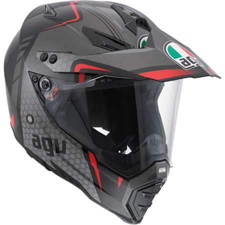 AGV AX-8 Dual Sport Tour Helmet Black/Silver Red 2X-Large  7611O2D0 (Best Sport Touring Motorcycle Helmet)