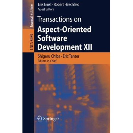 Transactions On Aspect Oriented Software Development Xii  2015