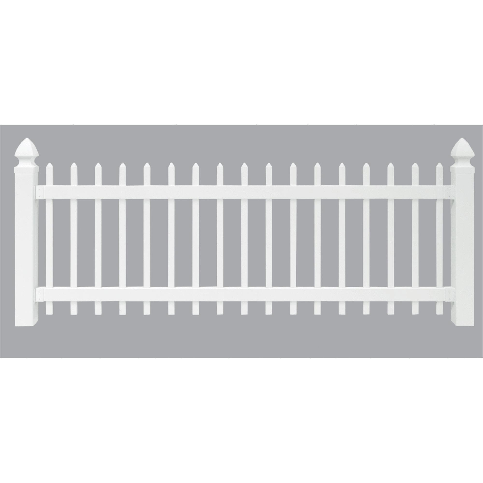 Amarroso Spaced Picket Vinyl Fence by UFPI LBR & Treated