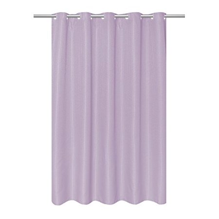 Carnation Home Fashions EZ-on Waffle Weave Fabric Shower Curtain with Built in Snap Off Liner, Lilac - image 1 of 1