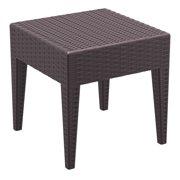 Compamia Miami Square Resin Patio Side Table in Brown