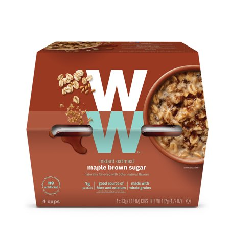 Weight Watchers Maple Brown Sugar Oatmeal 1 package contains 4 separate cup servings 3 Smart