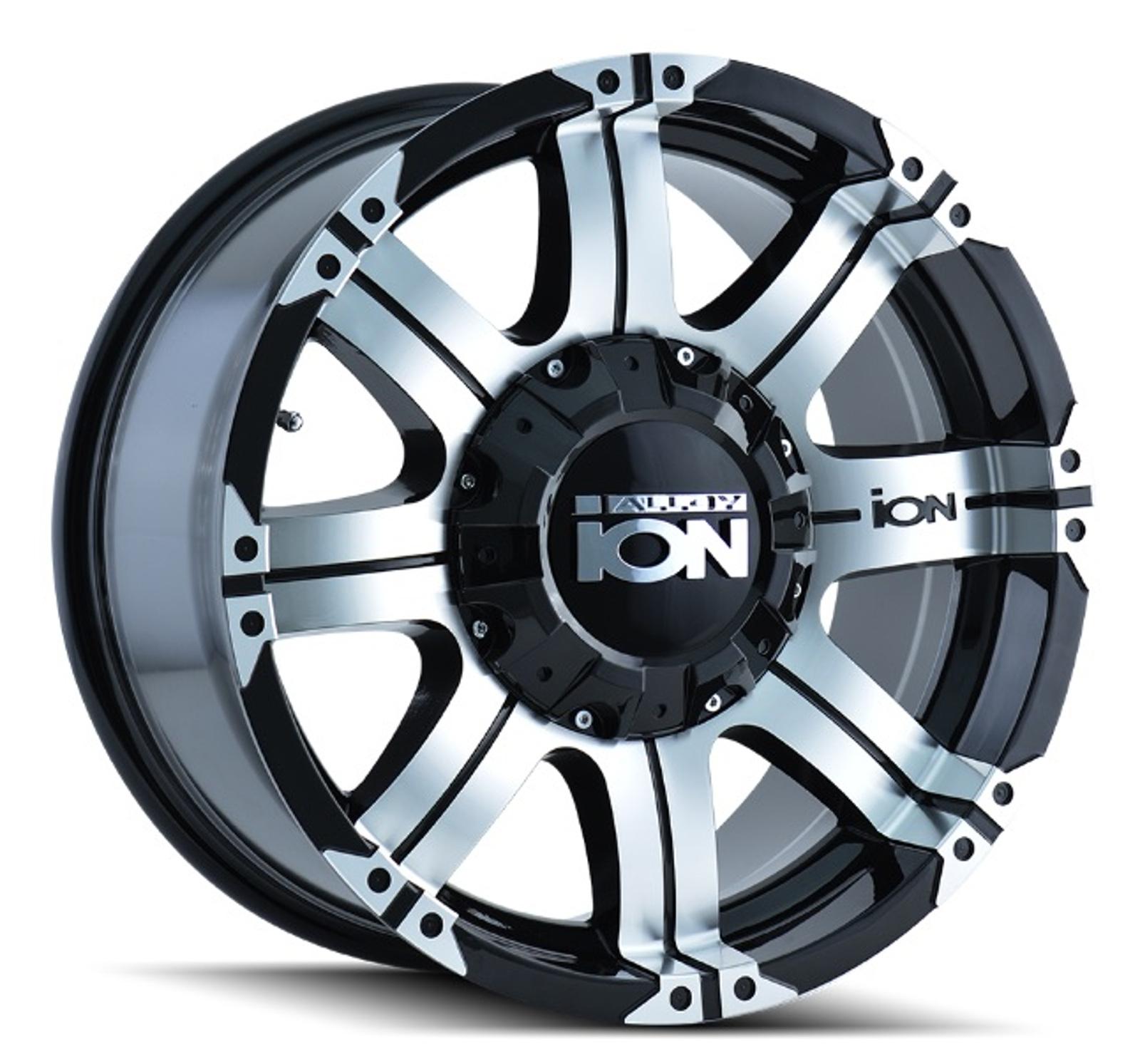 Ion Wheels 187-7937B18 Single 187 Black/Machined Face/Machined Lip 17x9 Wheel