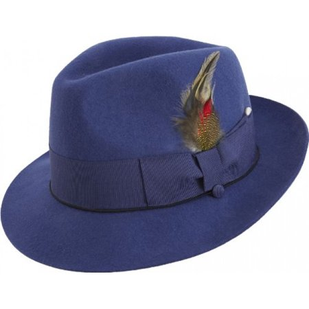 6be14c263676e MONTIQUE - Montique Pinch Men s Felt Hat - Walmart.com