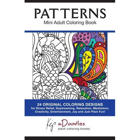 Patterns mini adult coloring book Coloring book walmart