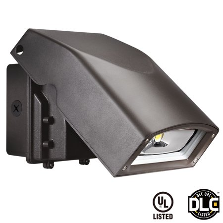 Leonlite Led 30W Wall Pack 100 150W Hid Mh Replacement Ul Listed Dlc Qualified 3070 Lumens 5000K Daylight Dark Sky Outdoor Wall Light For Residential  Commercial And Landscape Lighting