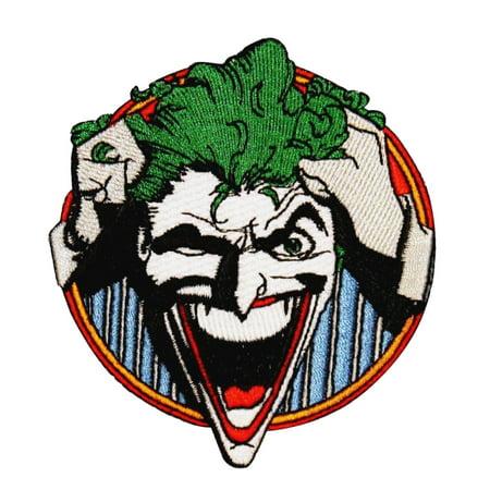 Joker Asylum Inmate Batman Arkham Villain DC Comics Iron-On Applique - Arkham Asylum Costume