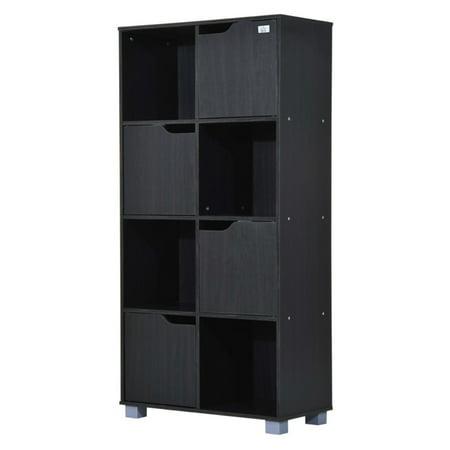 HomCom 8 Cube Bookcase Storage Shelf Organizer