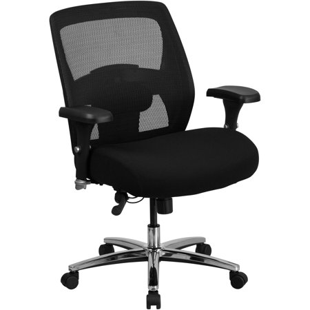 Flash Furniture Hercules Series 24 7 Multi Shift Big And Tall 500 Lb Capacity Black Mesh Multi Functional Executive Swivel Chair With Ratchet Back
