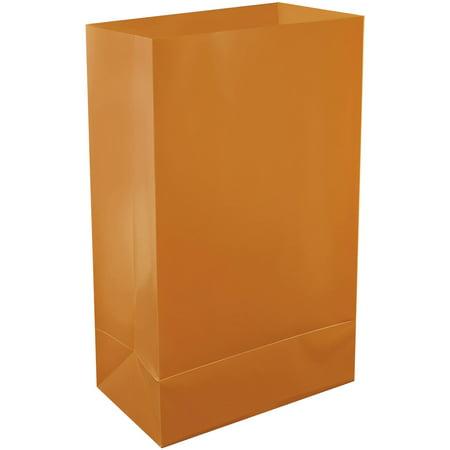LumaBase Plastic Luminaria Bags, 12 Count  Tan