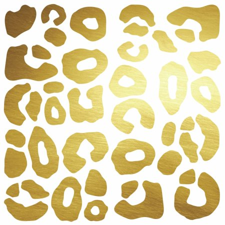 - Leopard Spot Peel And Stick Wall Decals With Foil