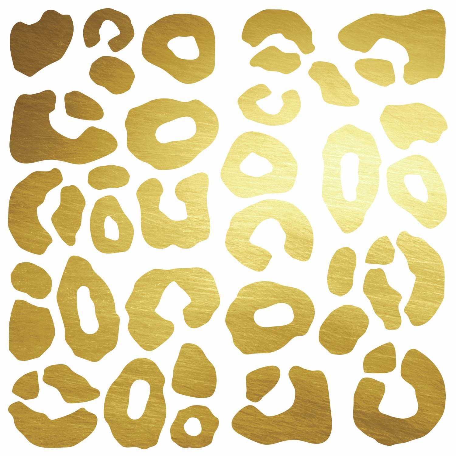 Leopard Spot Peel And Stick Wall Decals With Foil