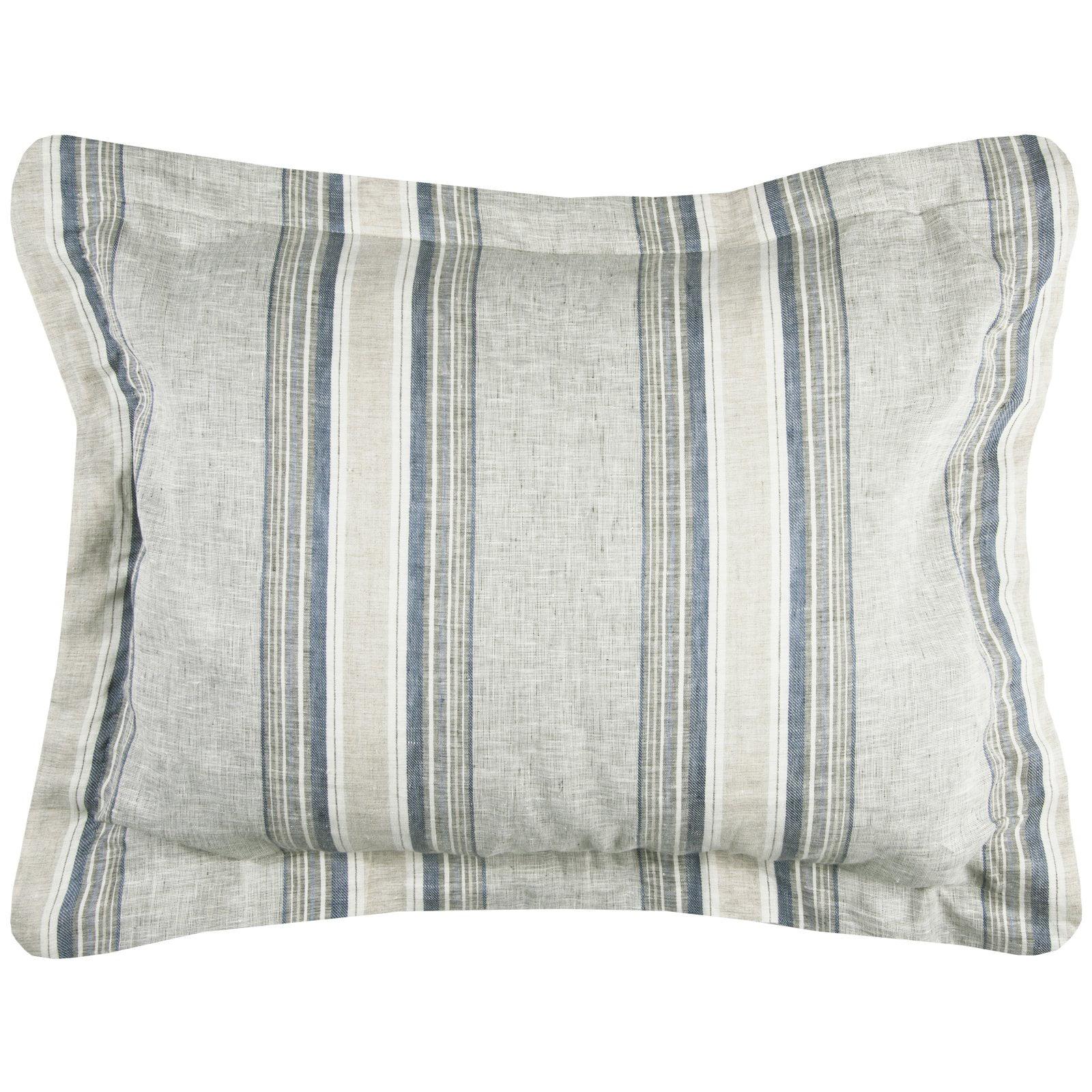 """Rizzy Home Prescott Preserve Blue Linen Bedding Sham 20"""" x 26"""""""