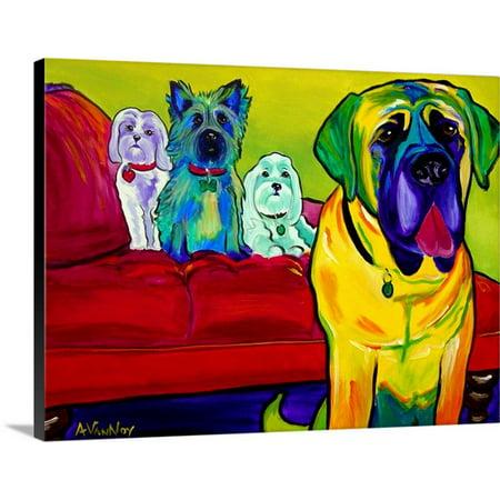Canvas Floor (Great BIG Canvas Dawg Art Premium Thick-Wrap Canvas entitled Drooler Get The Floor)