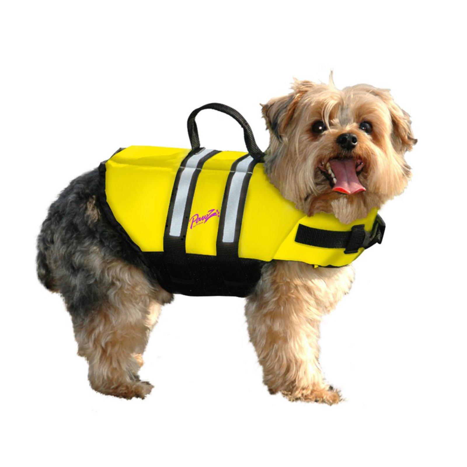 Pawz Pet Products Nylon Dog Life Jacket, Yellow