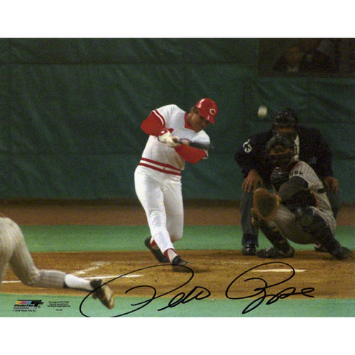 MLB - Pete Rose Cincinnati Reds Hit #4192 8x10 Autographed Photograph