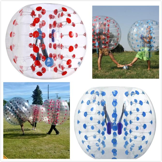 iMeshbean 2pcs 1.5m Red & Blue Dot PVC Inflatable Bumper ball Human Knocker Ball Bubble... by