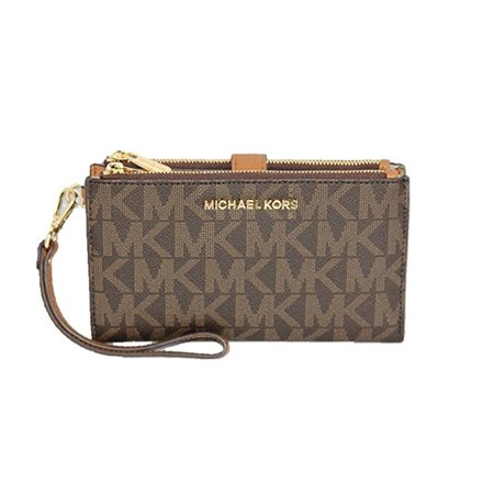 59d720f22f94 Michael Kors Jet Set Travel Double Zip Wristlet - Brown Acorn - Walmart.com