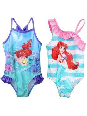 2-7T Mermaid Girl Kids Swimsuit Cartoon Bathing Suit Print Children Swimwear Bikini Tankini Baby Girl Summer Swimming Costume
