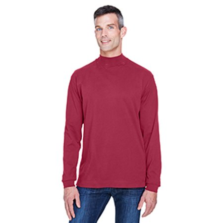 Devon & Jones Adult Sueded Cotton Jersey Mock Turtleneck Devon And Jones Cotton Shirt