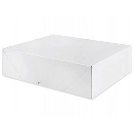 White Letterhead Folding Boxes - 25 Per Pack (7 1/4 x 10 1/2 x 2)