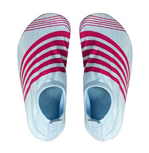 Peach Couture Kids Toddler Boys Athletic Water Shoes Pool Beach Aqua Socks (Large, Blue) - image 1 de 1