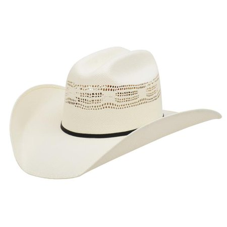 3D Belt D16000-7 5X Mesquite Rancher Bangora Straw Synthetic Cowboy Hat, Cream - Size (Belted Straw Belt)