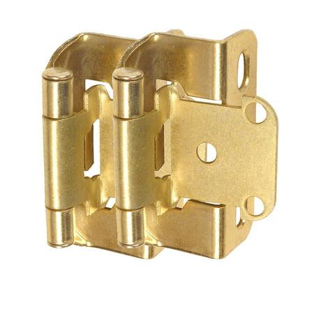 Cosmas 27550-BB Brushed Brass Self Closing Partial Wrap Cabinet Hinge 1/2