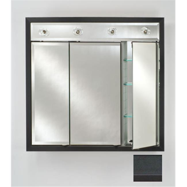 Afina Corporation TD-LC4740RCOLBK 47 in.x 40 in.Recessed Contemporary Integral Lighted Triple Door - Colorgrain Black - image 1 de 1