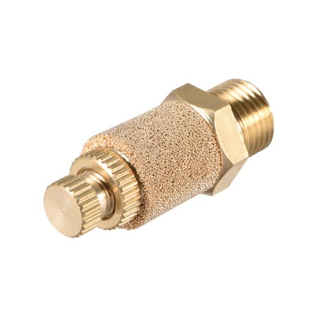 """Brass Exhaust Muffler, 1/8""""GTop Adjustable Bronze Muffler w Brass Body 2pcs - image 1 of 3"""