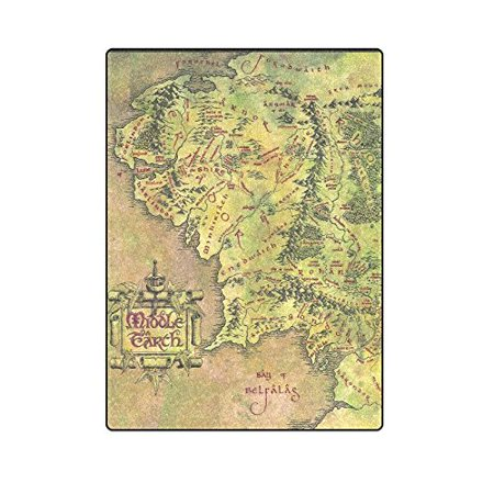 CADecor Middle Earth Blanket Throw Super Soft Warm Bed or Couch Blanket 58x80 (Epson V12h004m02 Middle Throw)