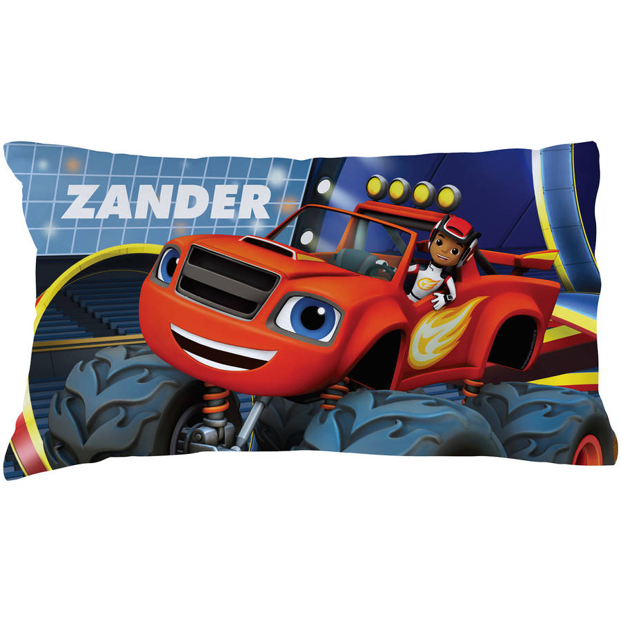 Personalized Blaze and the Monster Machines Racing Star Pillowcase