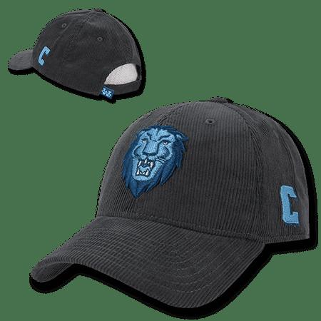 aeb8c86ba1650 NCAA Columbia University Lions Structured Corduroy Baseball Caps Hats  Charcoal - Walmart.com