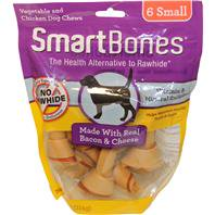 Dog Treats: SmartBones Bacon & Cheese