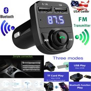 MaximalPower Bluetooth FM Transmitter Wireless In-Car Music Adapter Hands-Free Calling Car Kit Stereo Receiver Modulator with TF Card Slot or Cellphone and Tablet