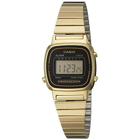 Women's LA670WGA-1DF Daily Alarm Digital Gold-tone Watch ()