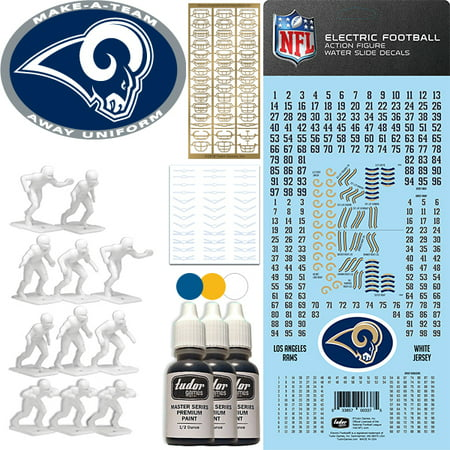 save off 79e66 44571 Los Angeles Rams NFL Away Uniform Make-A-Team Kit for Electric Football