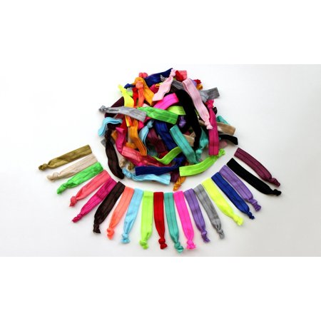 60-Pack Rainbow Hair Ties - Walmart.com 855ab8f9659