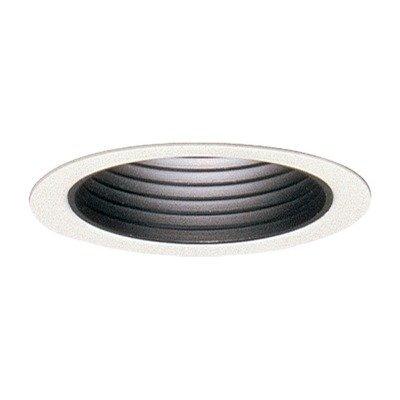 Lightolier 2076WH 3-3/4 Inch Down Light Gloss White Step Reflector Baffle Trim Round Gloss White Flange Lytecaster
