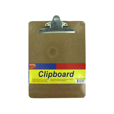 Bulk Buys GG003-48 Sturdy Cork Clipboard - Pack of 48 - Mini Clipboards Bulk