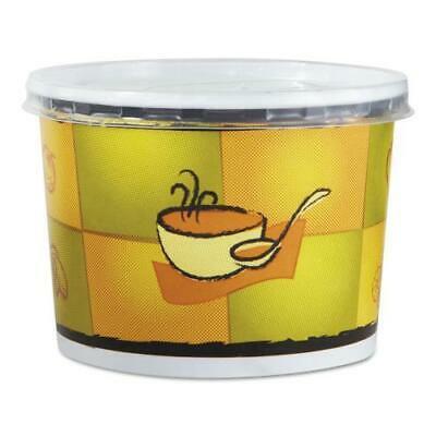 Streetside Squat Paper Food Container w/ Lid, Streetside Design, 12oz, 250/CT (Food Design)