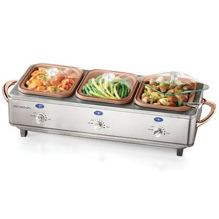 HomeCraft DCBS15 Deluxe Stainless Steel Cook & Serve Buffet Server