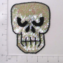 "Expo Int'l 5"" x 3 3/4"" Scary Skull Sequin Applique"