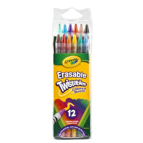 Crayola Erasable Twistables Colored Pencils, 12-Count