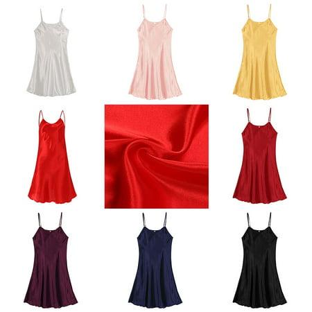 Women Lady Silk Robe Dress/Set Nightgown Lingerie Babydoll Nightdress Sleepwear
